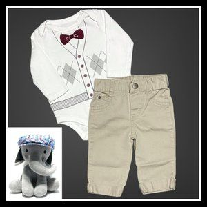 Other - Argyle & Bow Tie Country Club Outfit + Golf Hat